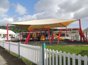 Playground at RUSM Prep School for children of students and faculty